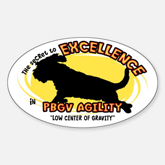 The Secret to PBGV Agility Oval Decal