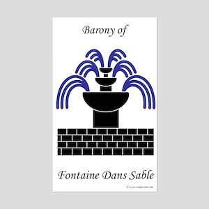 Fontaine Dans Sable Rectangle Sticker