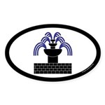 Fontaine Dans Sable Oval Sticker (50 pk)