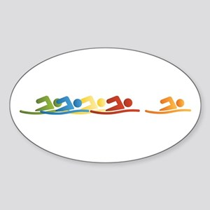 Swimmers Oval Sticker