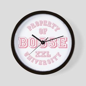Property of Bosse Last Name University Wall Clock