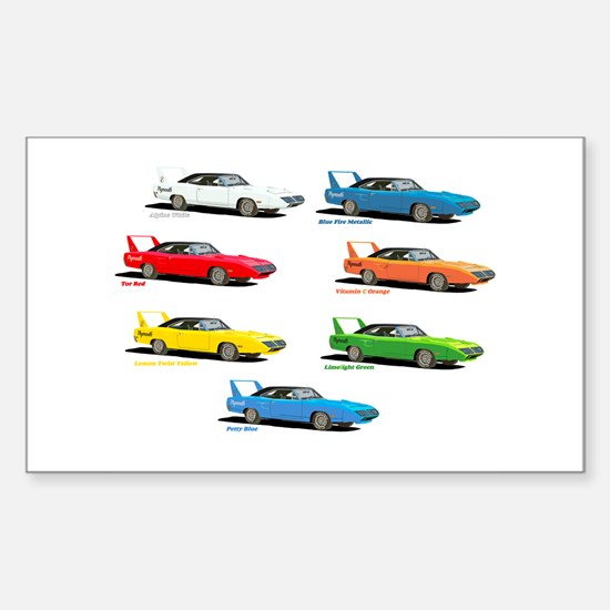 Super Colors Rectangle Decal