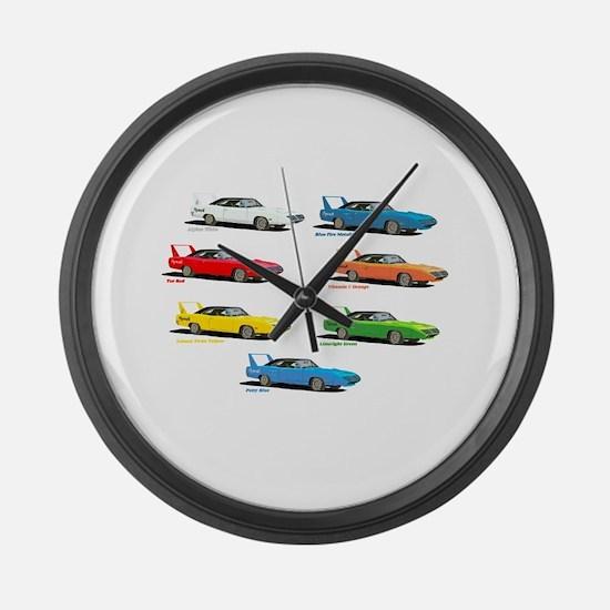 Super Colors Large Wall Clock