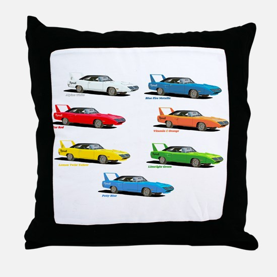 Super Colors Throw Pillow