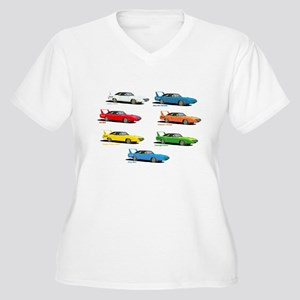 Super Colors Women's Plus Size V-Neck T-Shirt