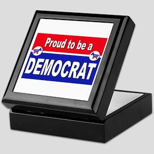 Proud to be a Democrat Keepsake Box