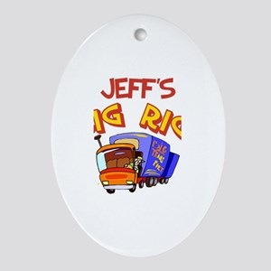 Jeff's Big Rig Oval Ornament