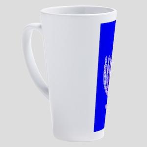Hanukkah Menorah Blue 4Moishe 17 oz Latte Mug