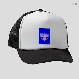 Hanukkah Menorah Blue 4Moishe Kids Trucker hat