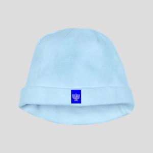 Hanukkah Menorah Blue 4Moishe Baby Hat