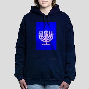 Hanukkah Menorah Blue 4Moishe Sweatshirt