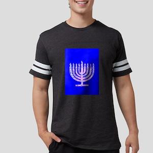 Hanukkah Menorah Blue 4Moishe T-Shirt