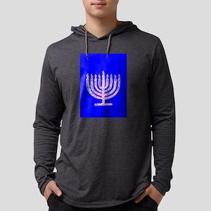 Hanukkah Menorah Blue 4Moishe Long Sleeve T-Shirt