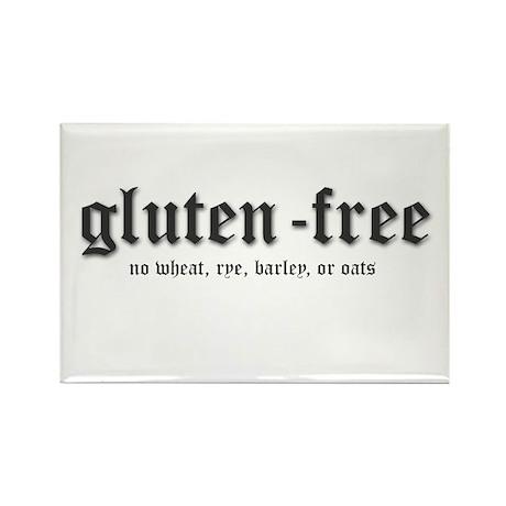 gluten-free Rectangle Magnet