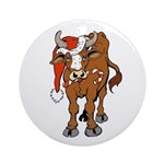 Christmas Cow Ornament