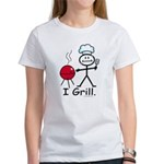 Grilling Stick Figur Women's Classic White T-Shirt