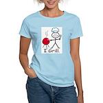 Grilling Stick Figure Women's Light T-Shirt