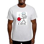 Grilling Stick Figure Light T-Shirt