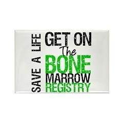 GetOnThe Bone Marrow Registry Rectangle Magnet (10