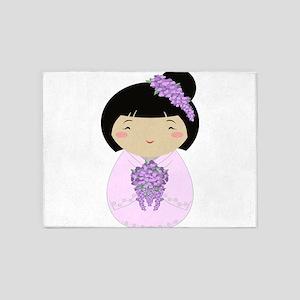 Kokeshi Wisteria Bride 5'x7'Area Rug