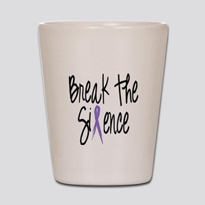 Speak Out Say No Shot Glass