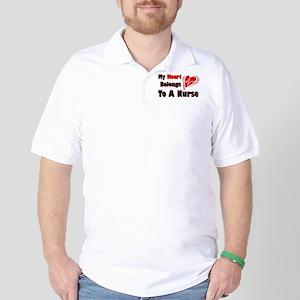 My Heart Nurse Golf Shirt