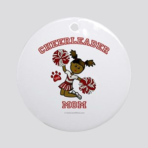 TJHS Cheerleader Mom Ornament (Round)