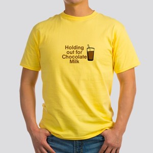 Holding for Chocolate Milk T-Shirt