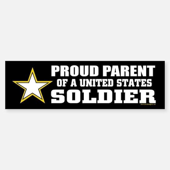 Proud Parent of a U.S. Soldier/BLK (Bumper)