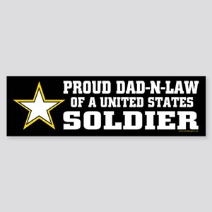 Proud Dad in law Soldier/BLK Sticker (Bumper)