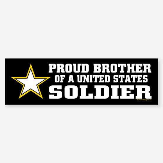 Proud Brother Soldier/blk Sticker (Bumper)