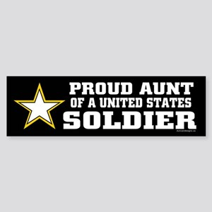Proud Aunt of a U.S. Soldier/BLK Sticker (Bumper)
