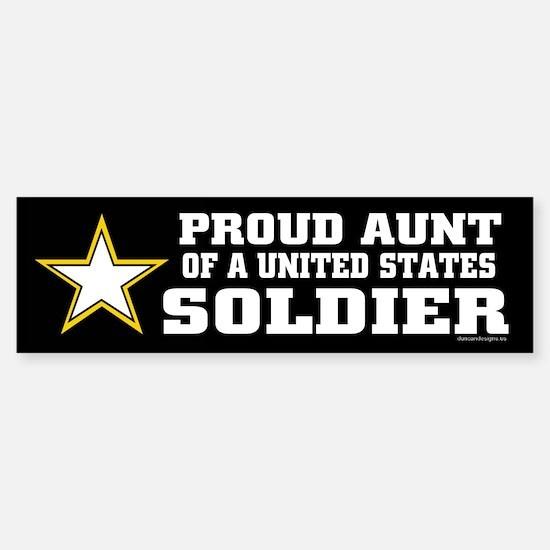 Proud Aunt of a U.S. Soldier/BLK Sticker (Bumper)