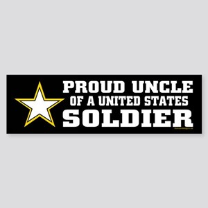 Proud Uncle of a U.S. Soldier/BLK Sticker (Bumper)