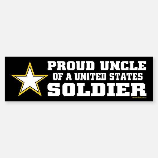 Proud Uncle of a U.S. Soldier/BLK Sticker (Bumper)