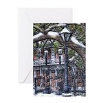 New Orleans Christmas Snow Art Card