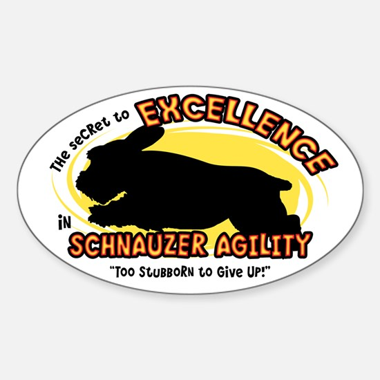 The Secret to Schnauzer Agility Oval Decal