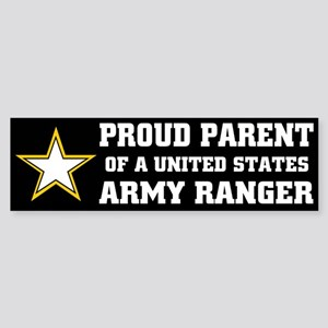 PROUD PARENT - ARMY RANGER Bumper Sticker