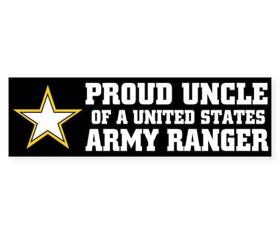 Proud uncle army ranger bumper bumper bumper sticker