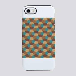 Geometric Marquetry Brown ab iPhone 8/7 Tough Case