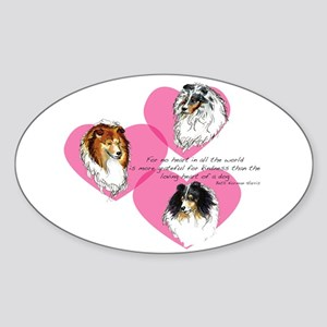 Sheltie Hearts Oval Sticker