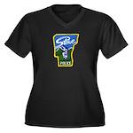 Stowe Police Women's Plus Size V-Neck Dark T-Shirt