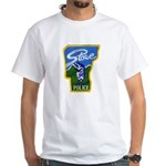 Stowe Police White T-Shirt