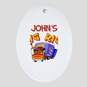 John's Big Rig Oval Ornament