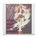 Jack Be Nimble Tile Coaster