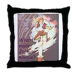 Jack Be Nimble Throw Pillow
