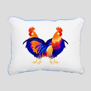 Chula Chickens Rectangular Canvas Pillow
