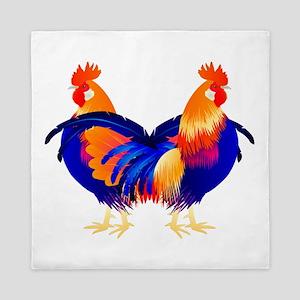 Chula Chickens Queen Duvet