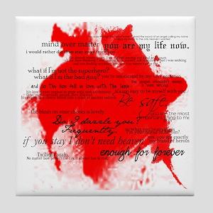 Twilight Quotes (White) Tile Coaster