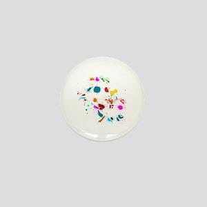 Paintball Player Paintball Unicorn Air Mini Button
